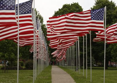 aisle of flags