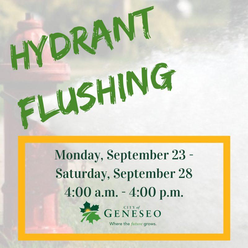 Hydrant Flushing Fall 2019